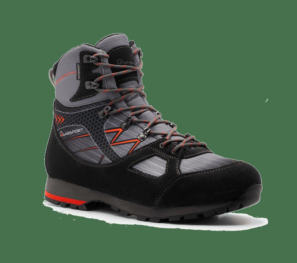 Scarpone trekking zillertal warterproof antracite rosso
